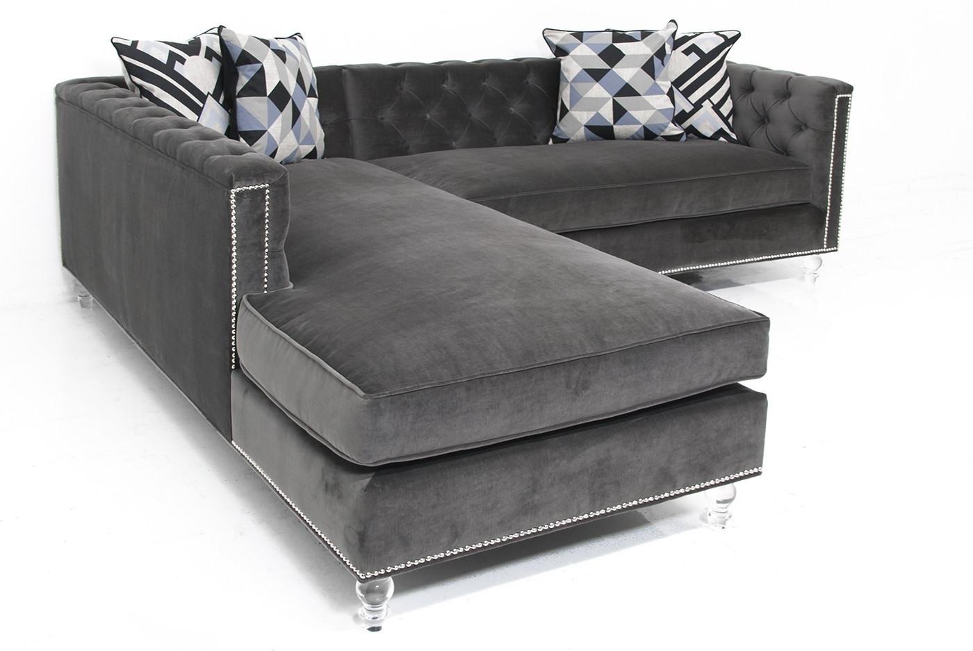 Living Room : Living Room Furniture Classic Gray Velvet Fabric Within Favorite Velvet Sectional Sofas (View 7 of 20)