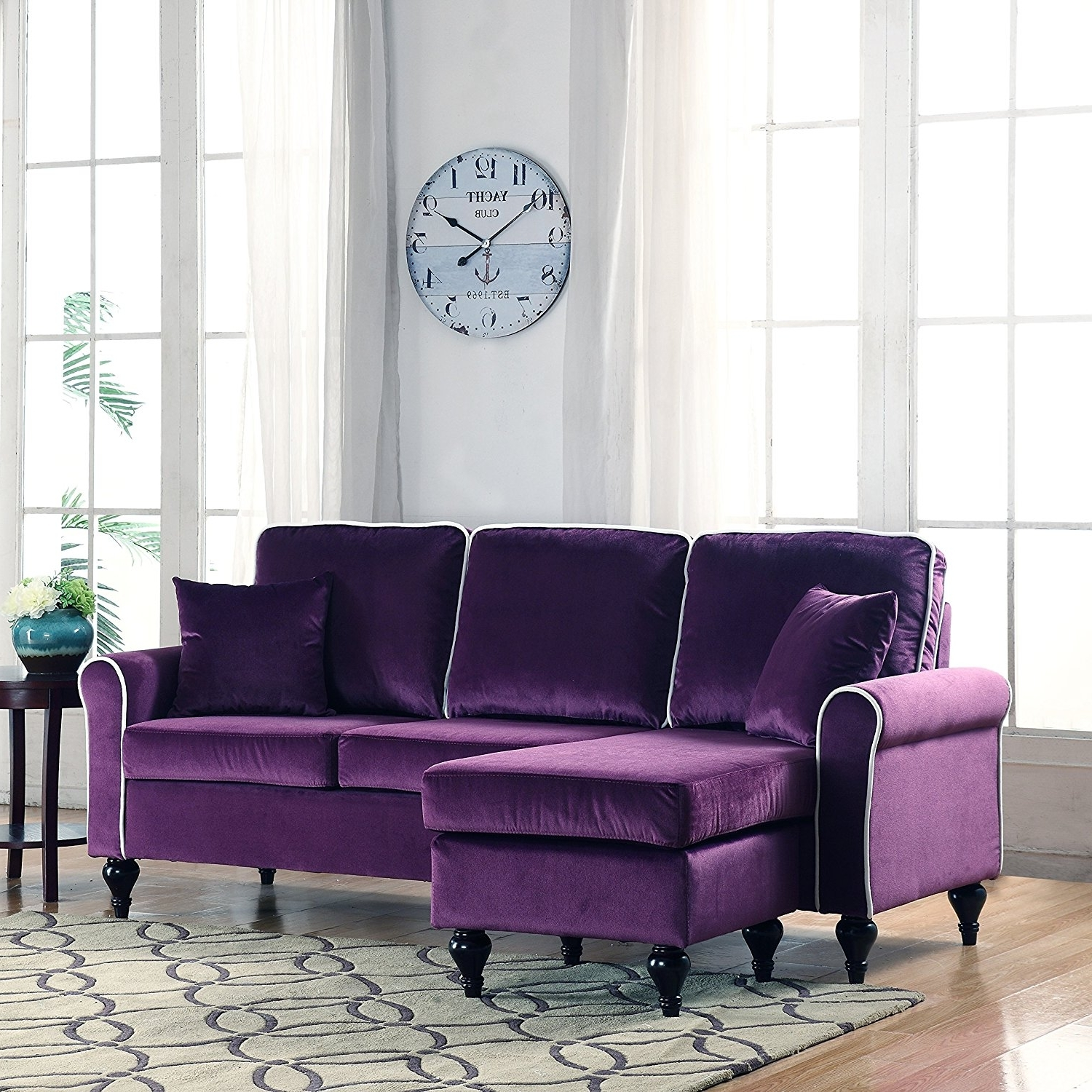 Living Room : Match A Purple Sofa Living Room Decor Purple Velvet Intended For 2019 Velvet Purple Sofas (View 14 of 20)