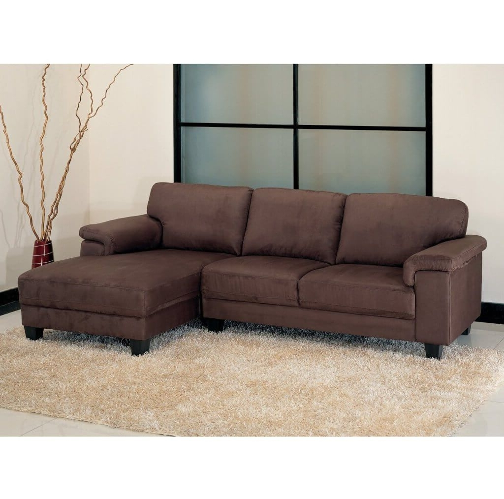 Living Room: Microsuede Sectional – 1 – Microsuede Sectional Regarding Most Recently Released Sectional Sofas At Barrie (View 2 of 20)