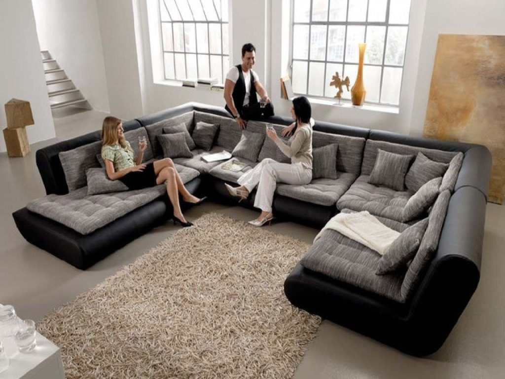 Living Room: Oversized Sectional Sofa Beautiful Furniture Living Inside Trendy Canada Sale Sectional Sofas (View 9 of 20)