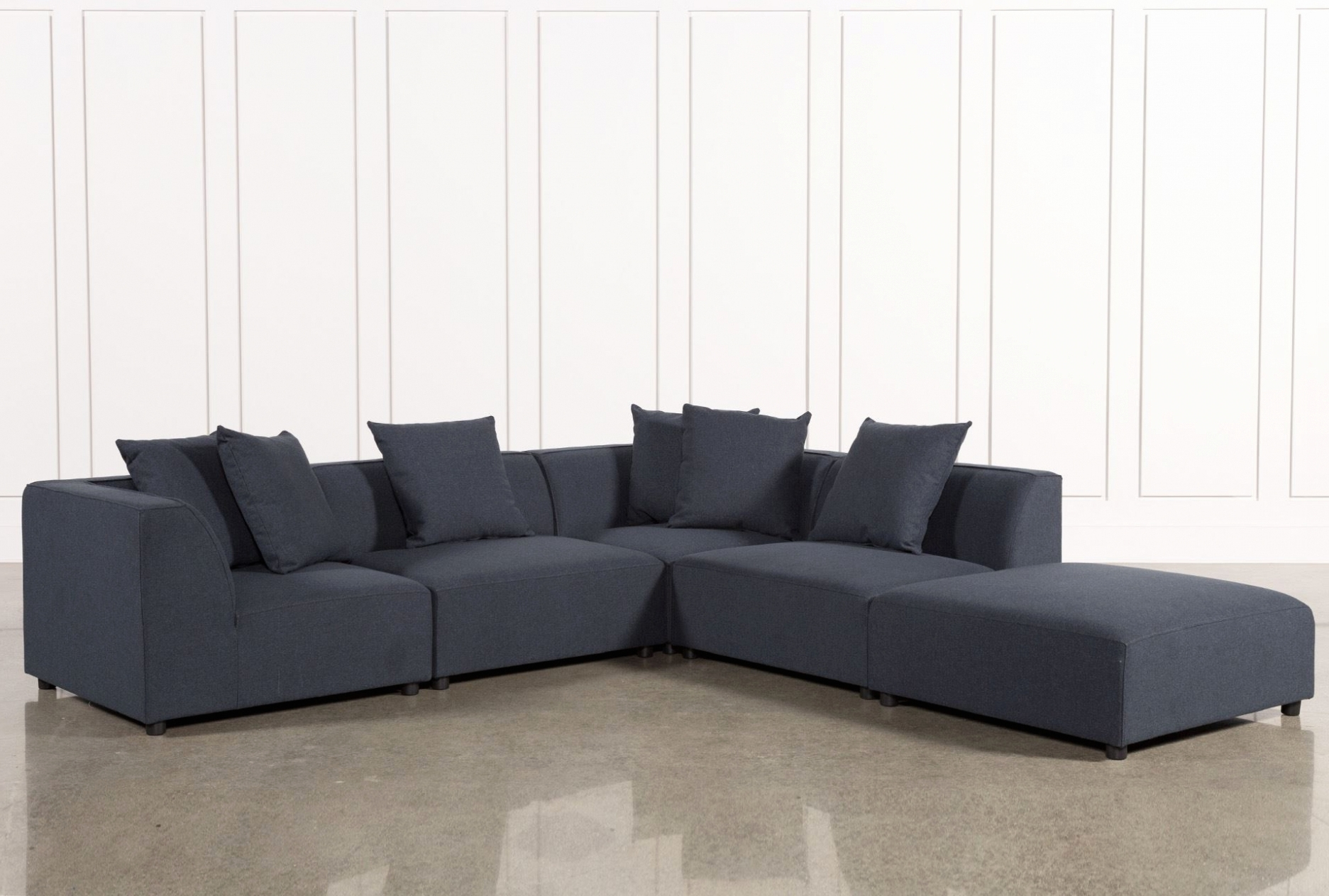 Living Spaces Sectional Sofas With Widely Used Furniture: Lovely 5 Piece Sectional Sofa With Chaise  (View 10 of 20)
