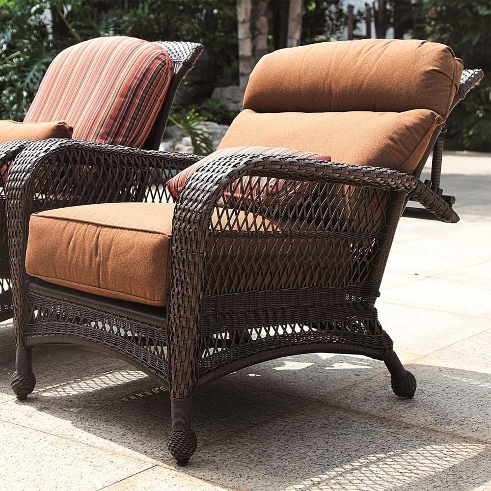 Longboat Key Wicker Reclining Chair – Wicker For Popular Outdoor Sofas And Chairs (View 6 of 20)