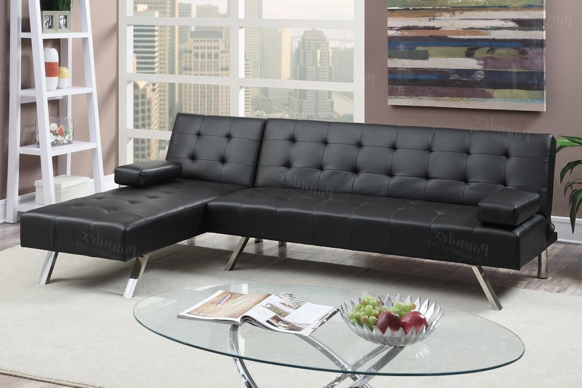 Los Angeles Sectional Sofas In Most Recent Black Leather Sectional Sofa Bed – Steal A Sofa Furniture Outlet (View 9 of 20)