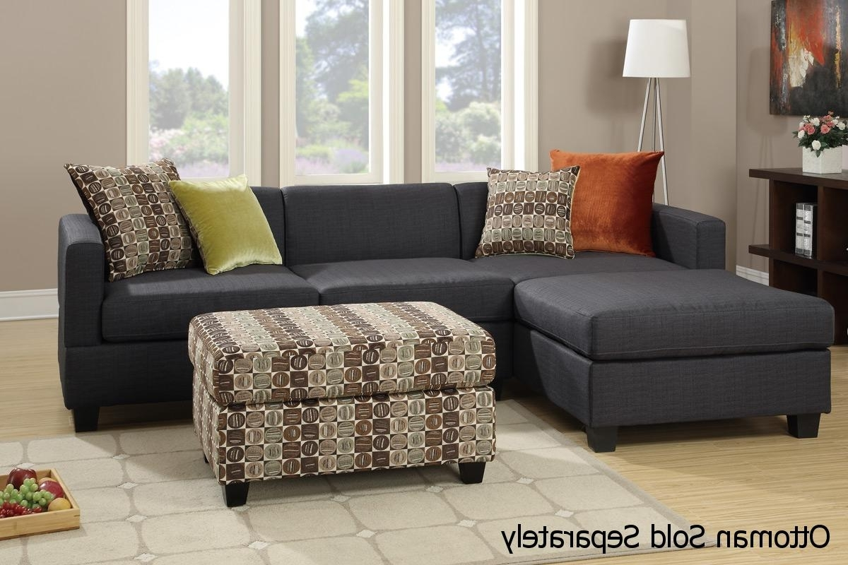 Los Angeles Sectional Sofas Inside 2018 Maribel Black Fabric Sectional Sofa – Steal A Sofa Furniture (View 10 of 20)
