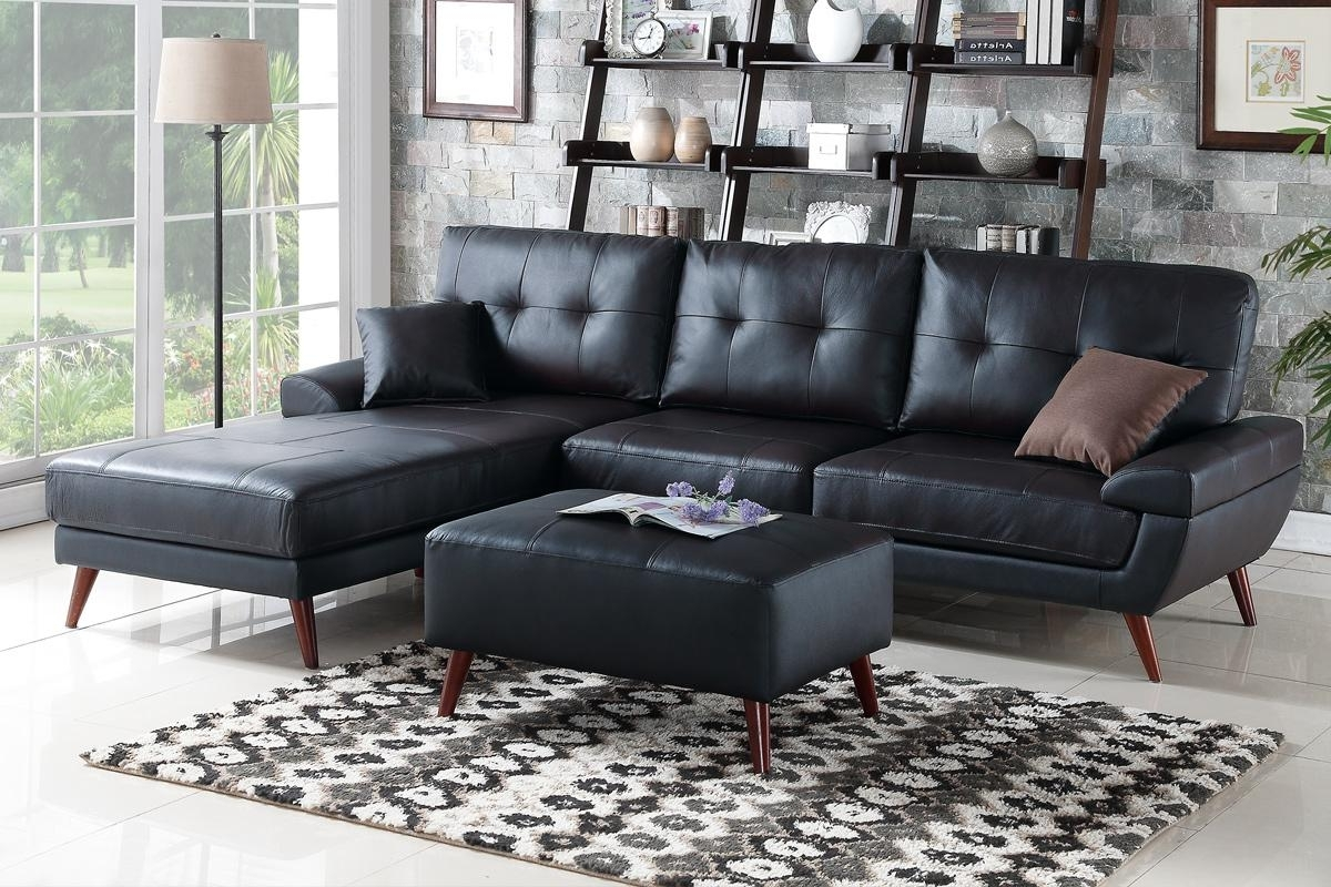 Los Angeles Sectional Sofas Intended For Most Current Black Leather Sectional Sofa – Steal A Sofa Furniture Outlet Los (View 11 of 20)