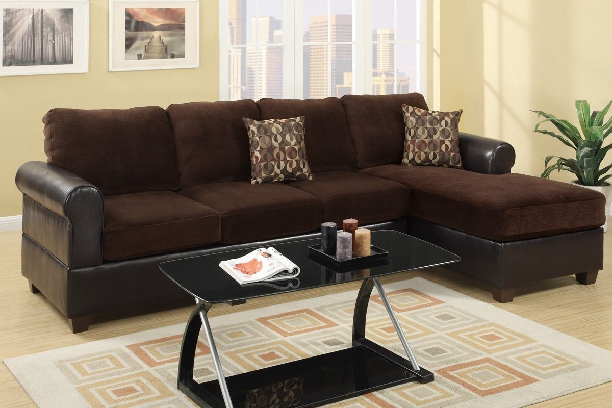 Los Angeles Sectional Sofas Intended For Recent Radley Chocolate Microsuede Sectional Sofa – Steal A Sofa (View 11 of 20)