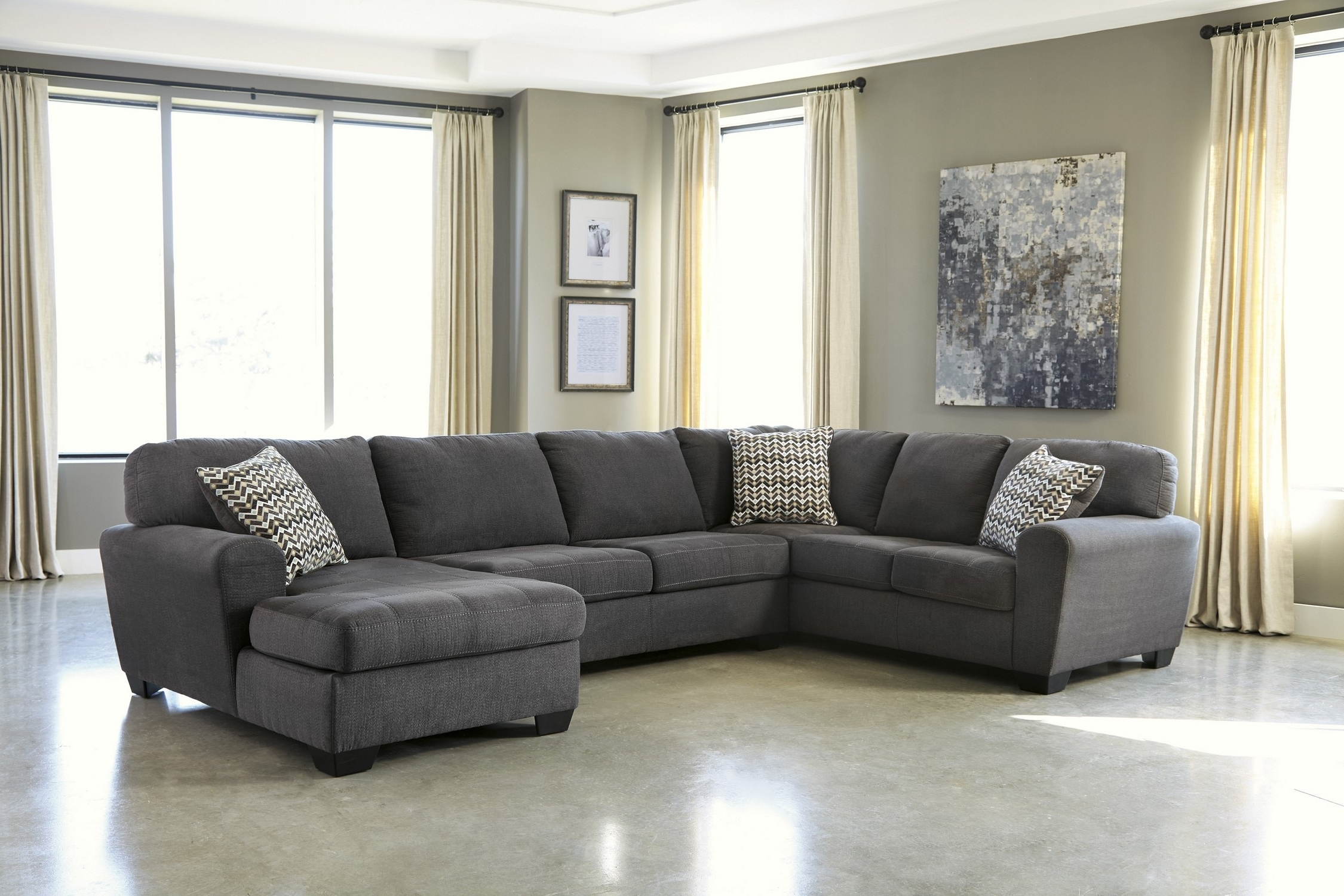 Luxury Charcoal Sectional Sofa 52 On Office Sofa Ideas With With Regard To Current Sectional Sofas Under  (View 4 of 20)