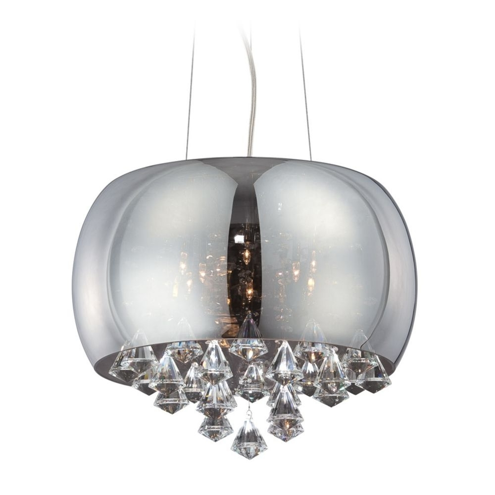 Luxury Design Home Lighting With Modern Low Voltage Drum Pendant Intended For Best And Newest Smoked Glass Chandelier (View 8 of 20)