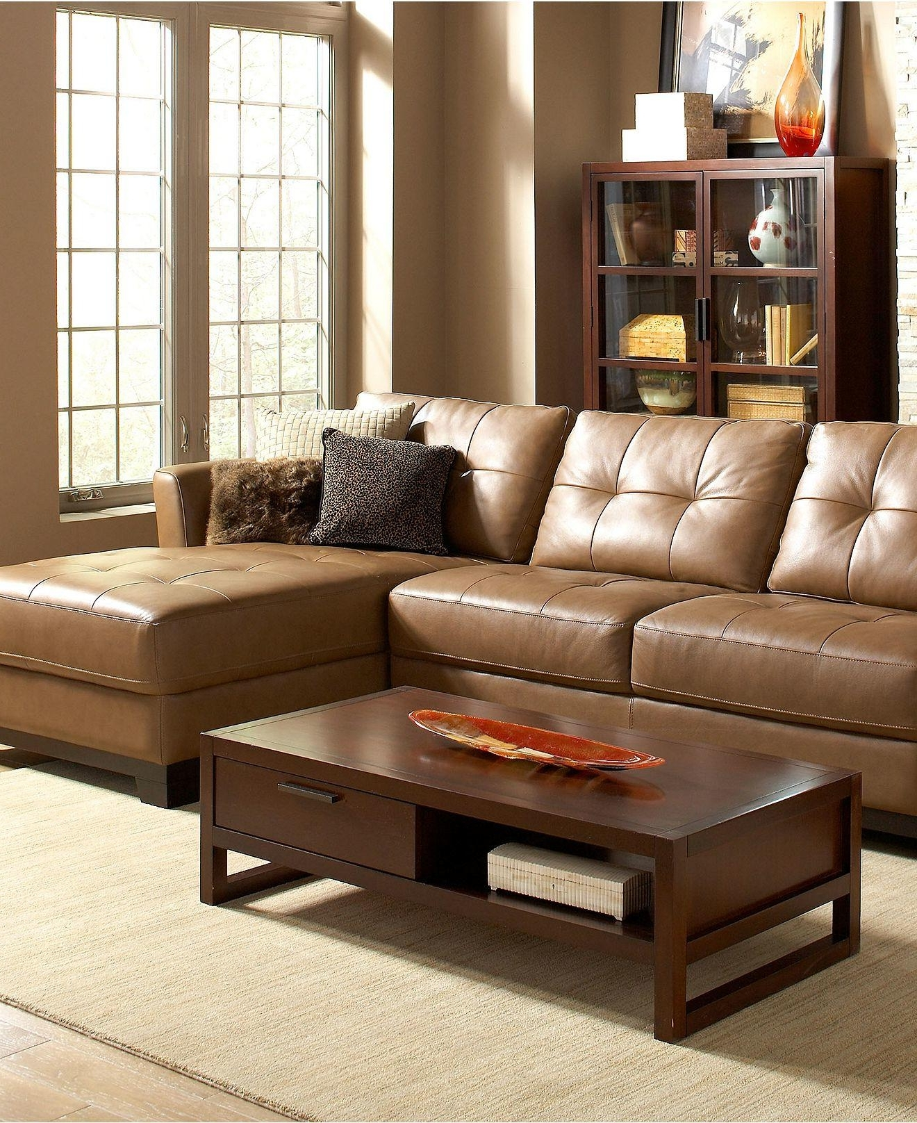 Macys Leather Sectional Sofas Inside Popular Martino Leather Sectional Living Room From Macys (View 10 of 20)