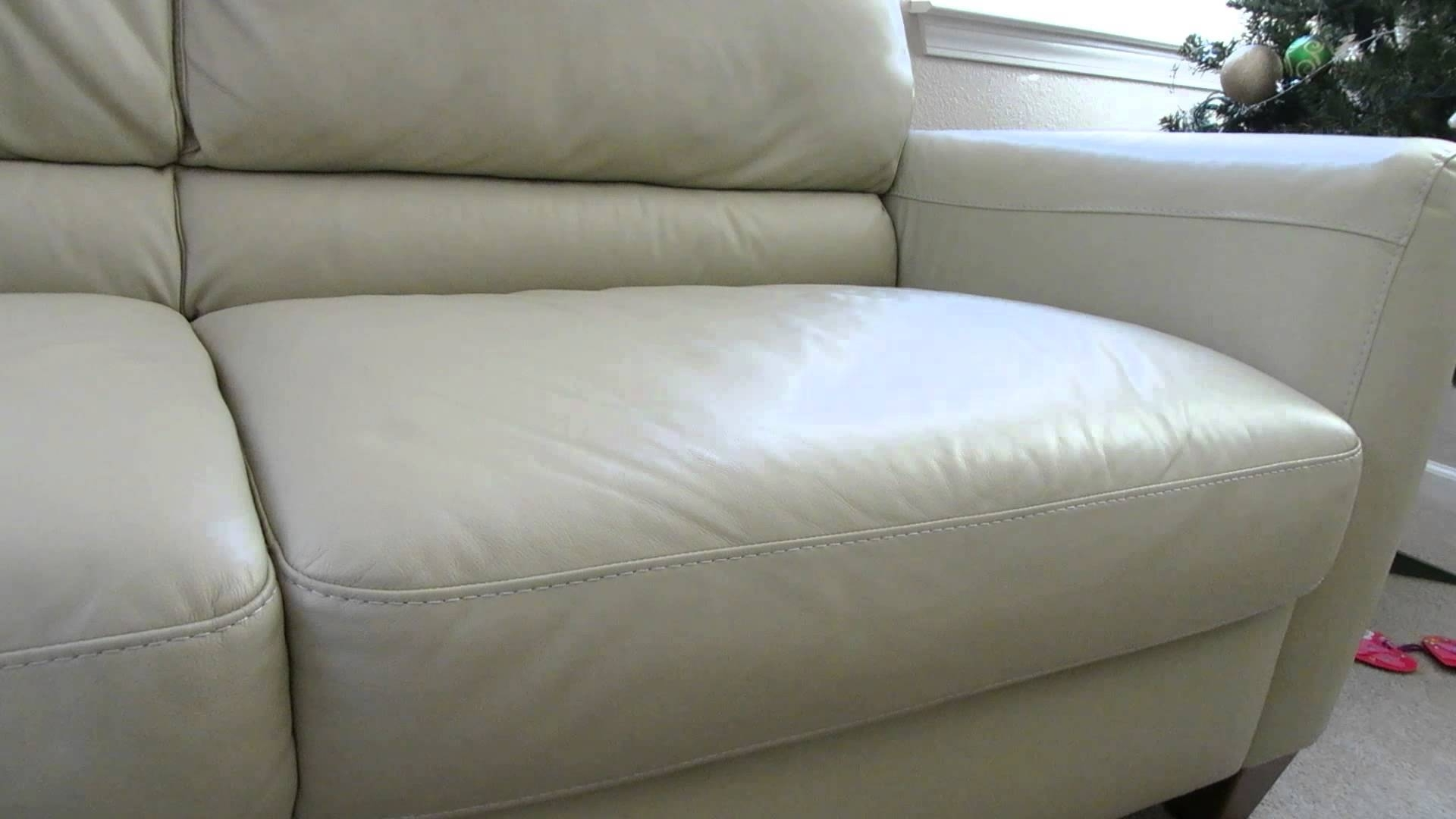 Macys Leather Sofas Inside Newest Review Of The Macys Almafi Leather Lime Green Sofa – Youtube (View 11 of 20)
