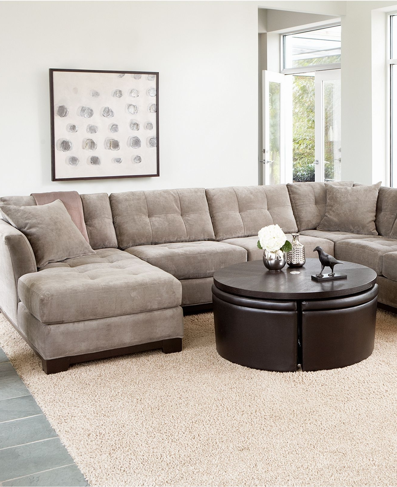 Macys Sectional Sofas Inside Latest Elliot Fabric Sectional Sofa Collection – Sectionals – Furniture (View 11 of 20)