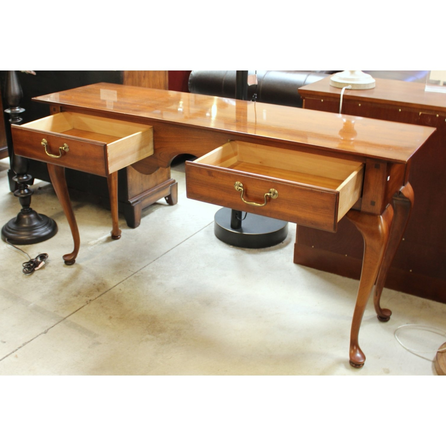 Magnificent Queen Anne Computer Desk Solid Wood Construction Teak For Well Known Teak Computer Desks (View 5 of 20)