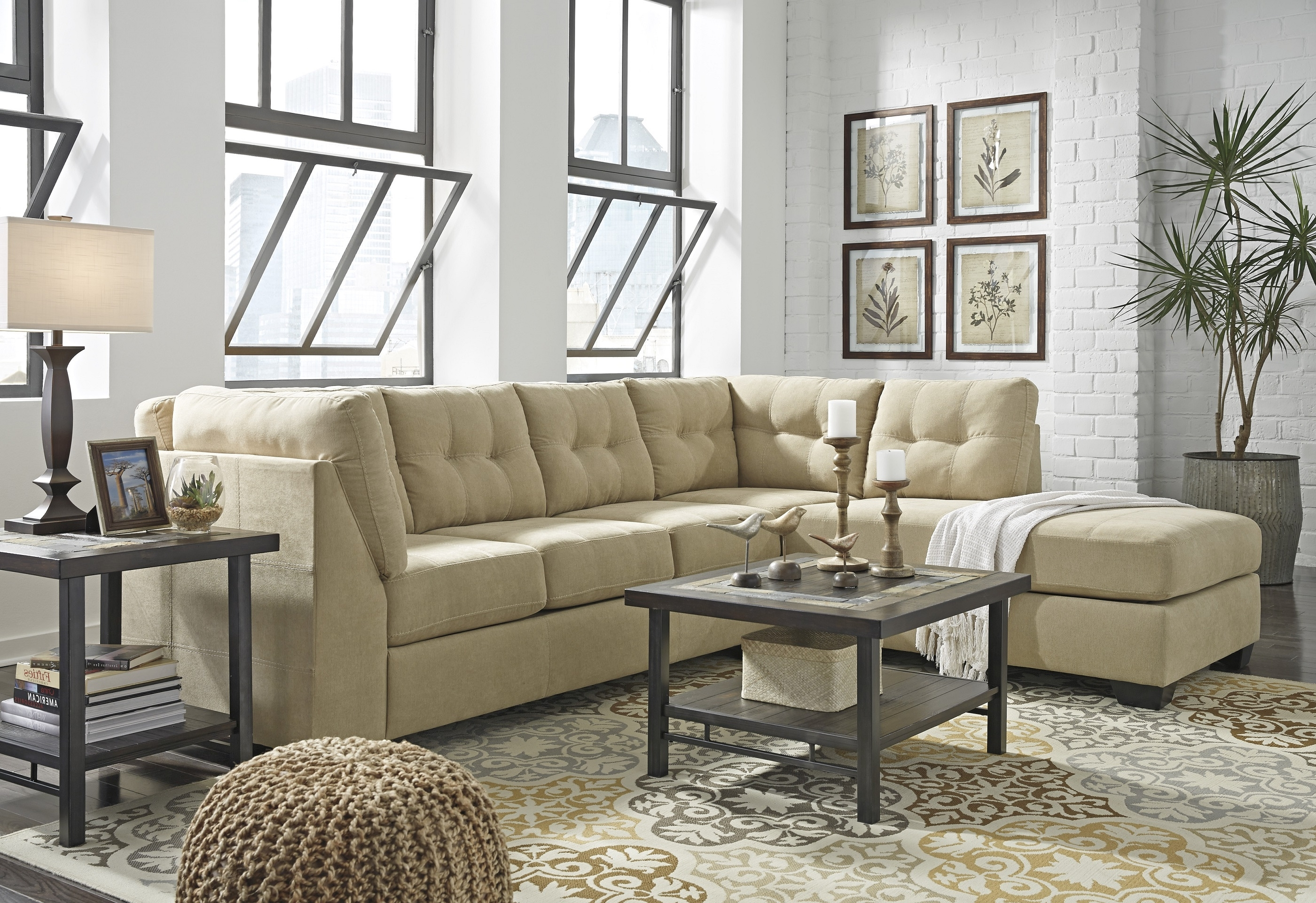 Maier Sofa Sectional 45203 16. Cocoa Colored Upholstery (View 16 of 20)