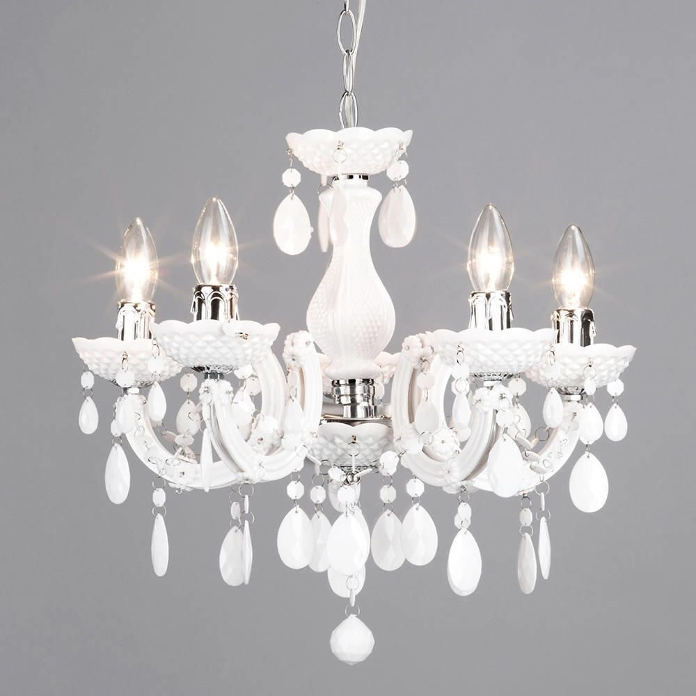 Marie Therese 5 Light Dual Mount Chandelier – White From Litecraft Intended For Newest White Chandelier (View 8 of 20)