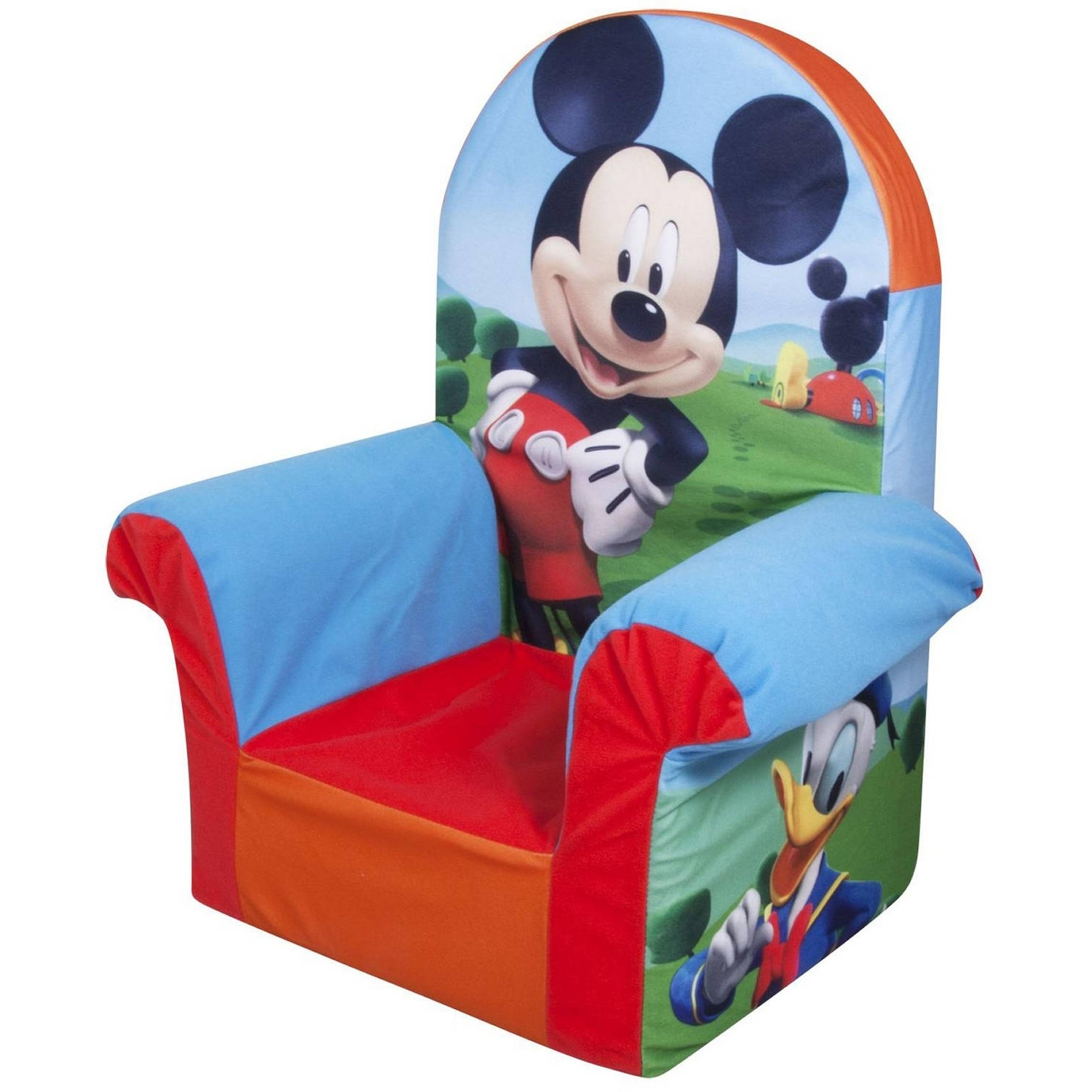 Marshmallow Minnie Mouse's Bow Tique High Back Chair – Walmart For Recent Disney Sofa Chairs (View 19 of 20)
