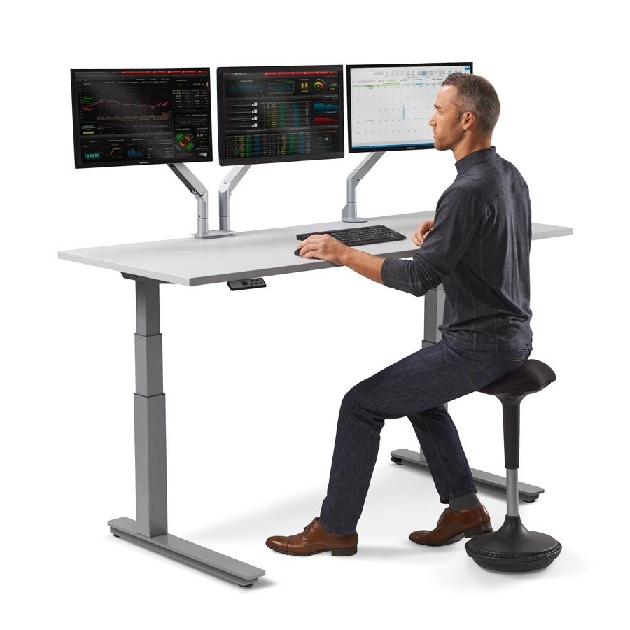 Marvelous Adjustable Sit Stand Desk Up Computer For Desktop Within Latest Computer Desks For Schools (View 19 of 20)