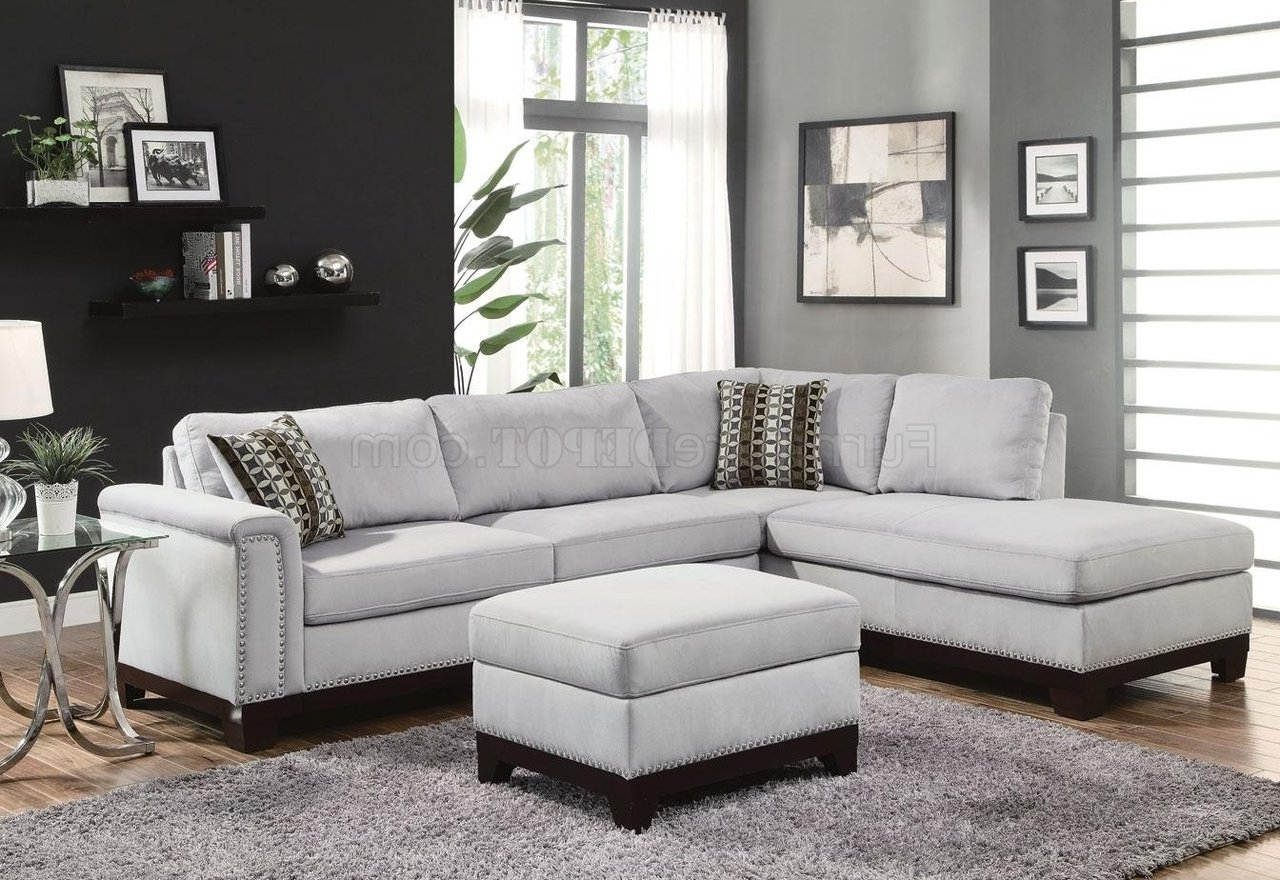 Mason Sectional Sofa 503615 In Blue Grey Fabriccoaster Regarding Favorite Microfiber Sectional Sofas (View 9 of 20)
