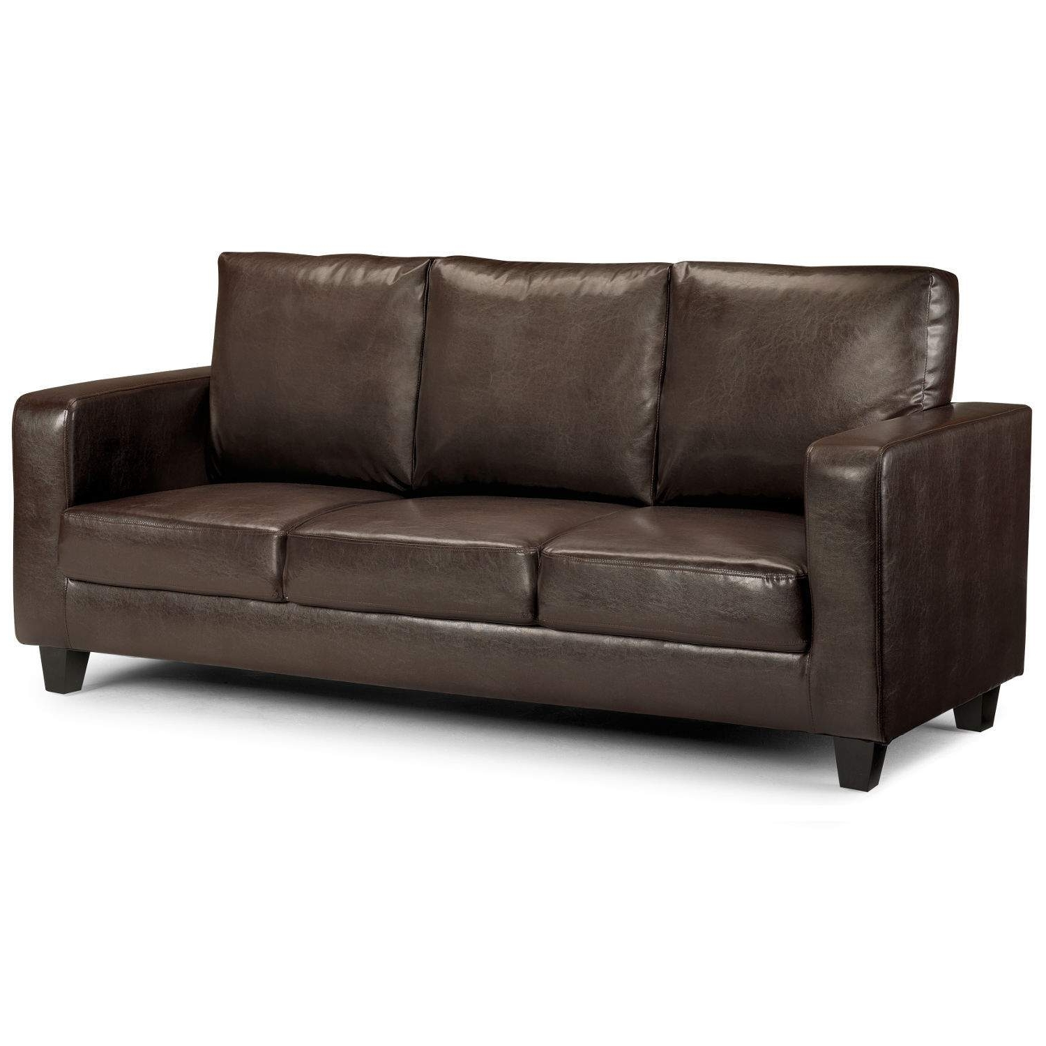 Matthew 3 Seater Faux Leather Sofa – Next Day Delivery Matthew 3 In Best And Newest 3 Seater Leather Sofas (View 3 of 20)
