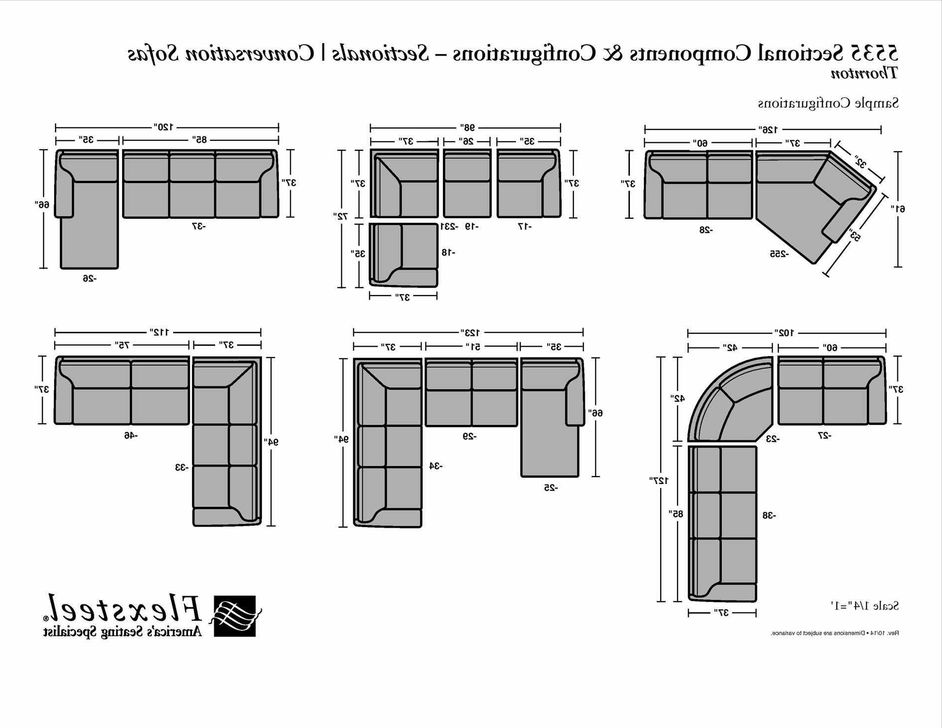 View Photos Of Measurements Sectional Sofas Showing 18 Of 20 Photos