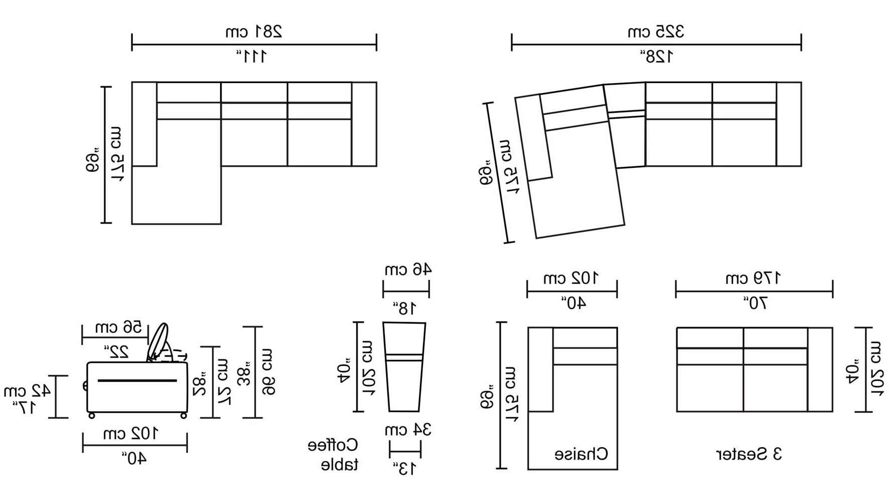 Sectional Sofa Dimensions Standard Couch Sizes Sectional ...