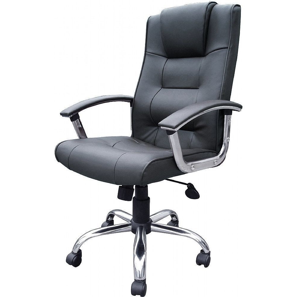 Melbourne High Back Black Leather Faced Executive Office Chair Inside Widely Used Black Leather Faced Executive Office Chairs (View 13 of 20)