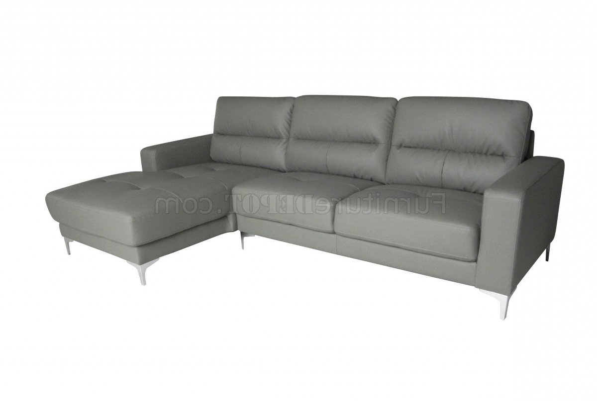 Memphis Sectional Sofas For Most Recent Memphis Sectional Sofa In Gray Bonded Leatherwhiteline (View 6 of 20)