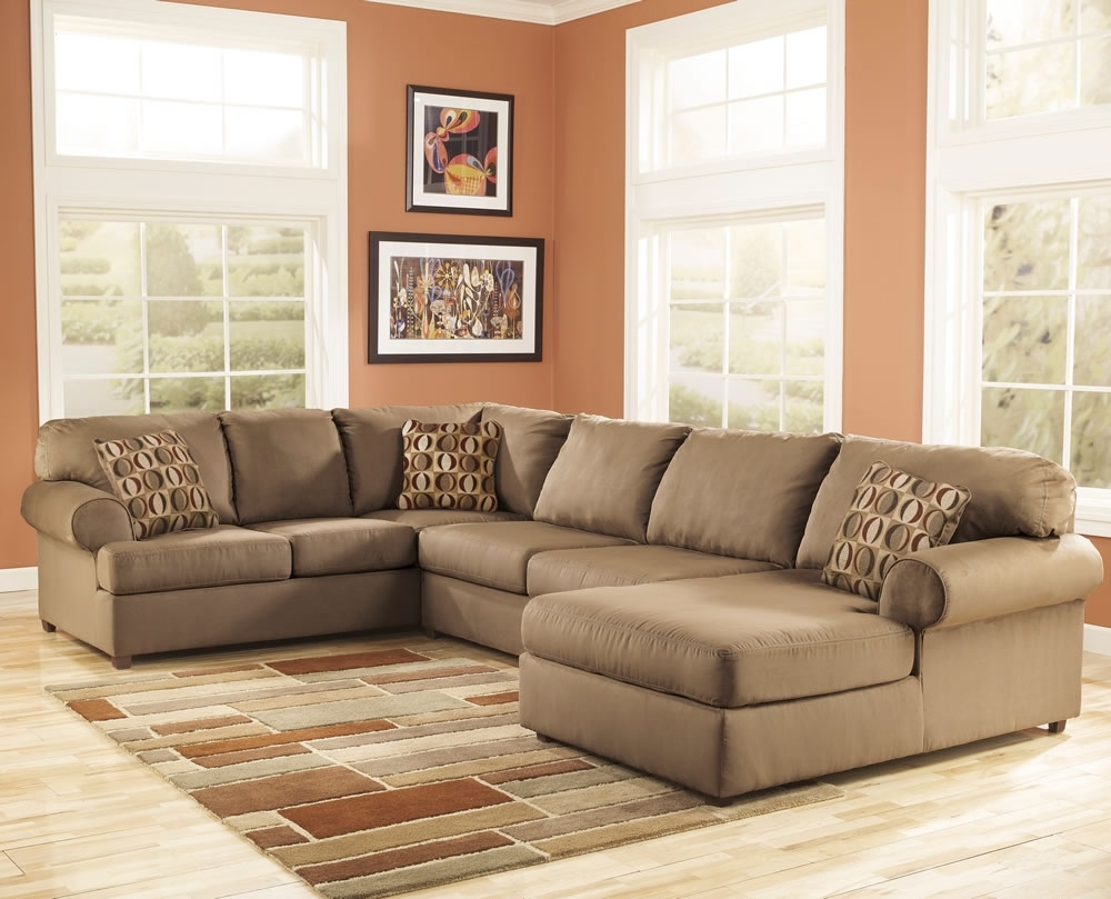 Microfiber Sectional Couch With Ottoman — Home Designs Insight In Latest Microfiber Sectional Sofas (View 4 of 20)