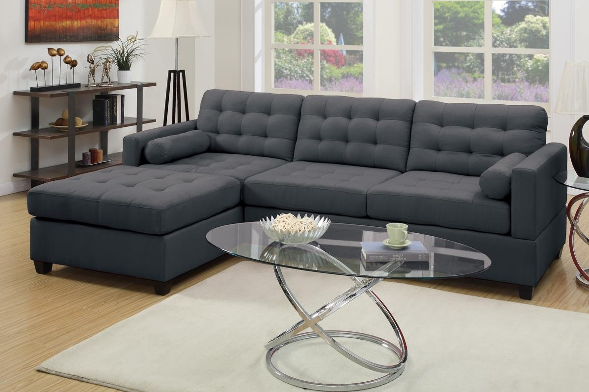 Microfiber Sectional Sofas In Newest Grey Fabric Sectional Sofa – Steal A Sofa Furniture Outlet Los (View 11 of 20)