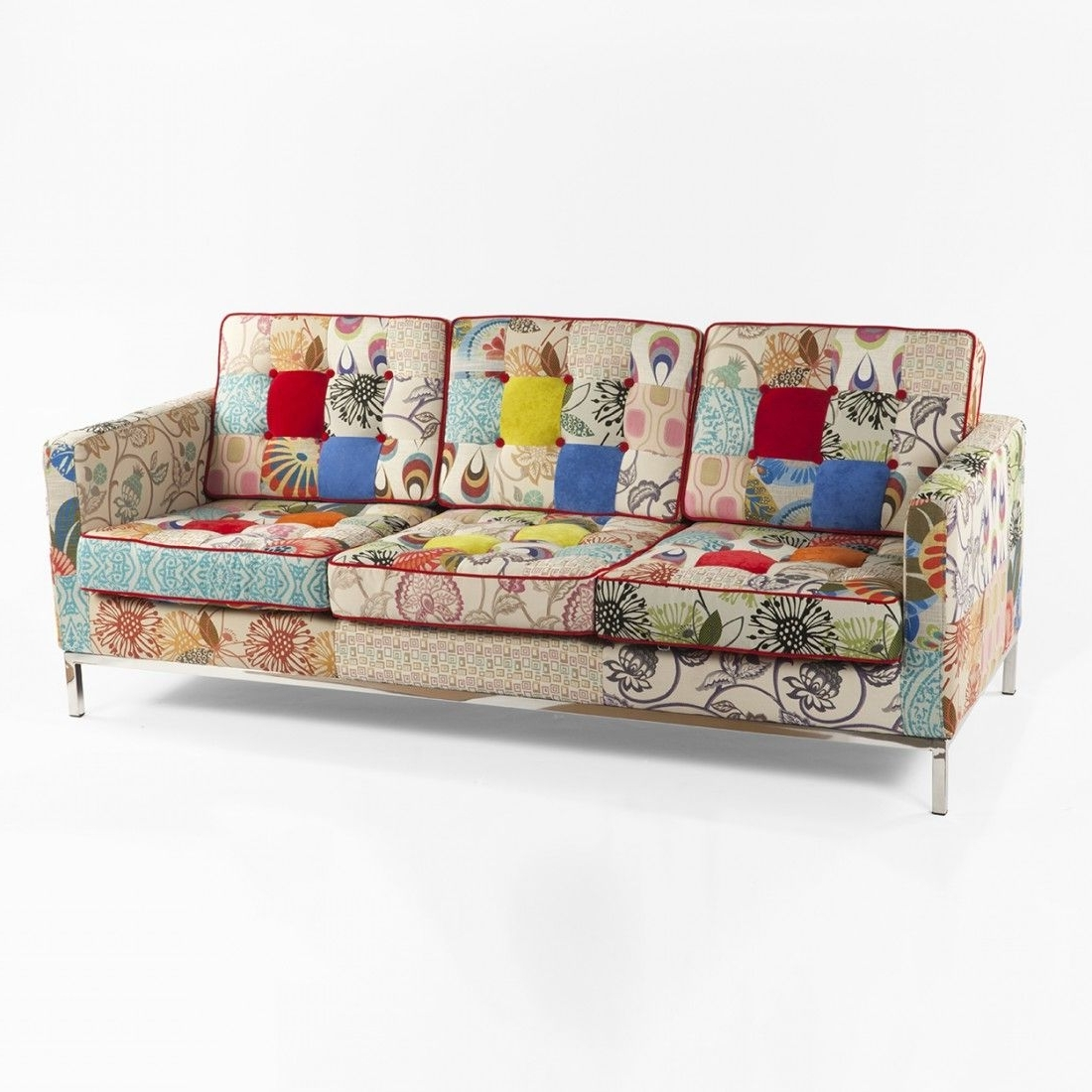Mid Century Modern Reproduction Mid Century Tufted Sofa With Regard To Favorite Florence Knoll Fabric Sofas (View 12 of 20)