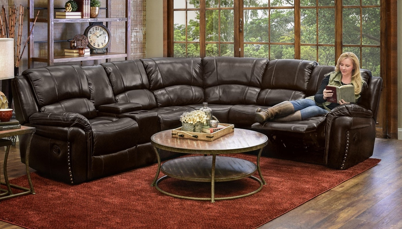 Milton Chocolate Reclining Sectional – Home Zone Furniture Intended For Well Liked Home Zone Sectional Sofas (View 12 of 20)