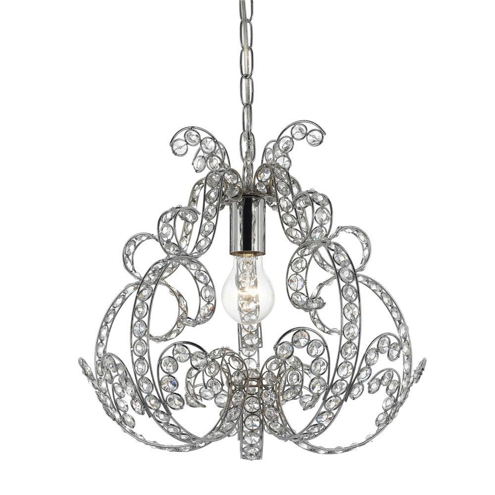 Minka Lavery 3 Light Chrome Mini Chandelier 3150 77 – The Home Depot Throughout Well Liked Small Chrome Chandelier (View 20 of 20)