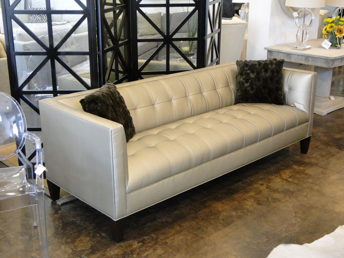 """Mitchell Gold 90"""" Kennedy Sofa In Alloy – Pewter (View 6 of 20)"""