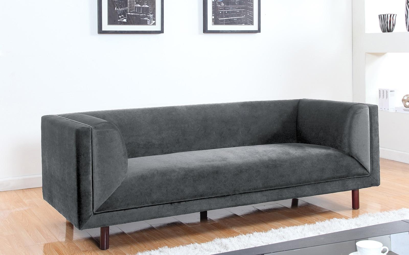 Modern 3 Seater Sofas Intended For Preferred Modern Contemporary Large 3 Seater Velvet Sofa – Walmart (View 9 of 20)