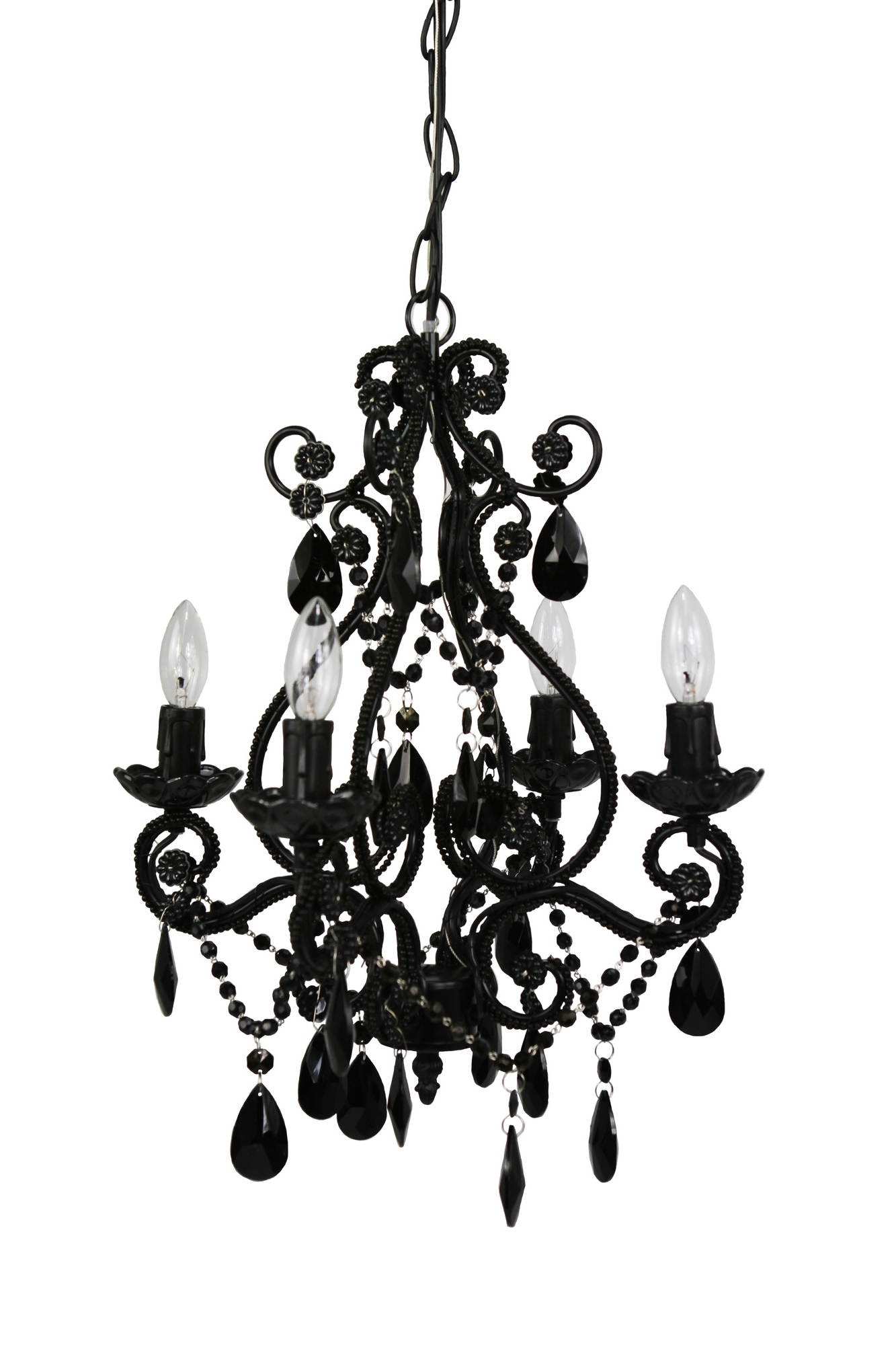 Modern And Cheap Chandeliers – Decoholic Within Popular Vintage Black Chandelier (View 8 of 20)