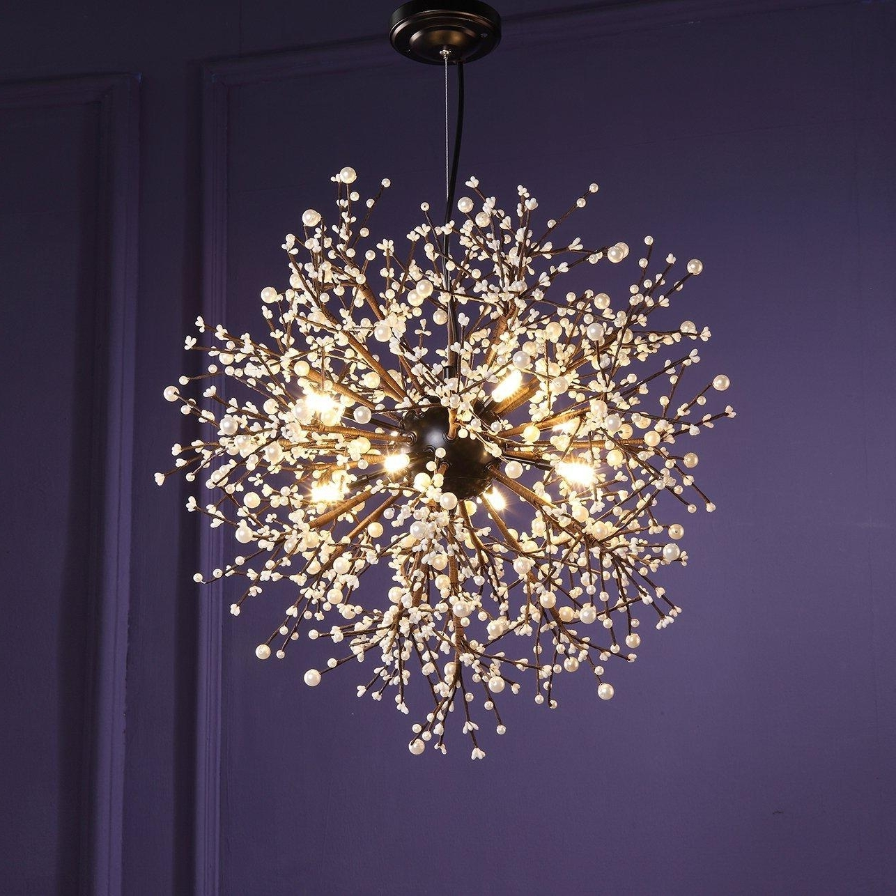 Modern Chandeliers Firework Led Vintage Wrought Iron Chandelier For Popular Ultra Modern Chandeliers (View 10 of 20)