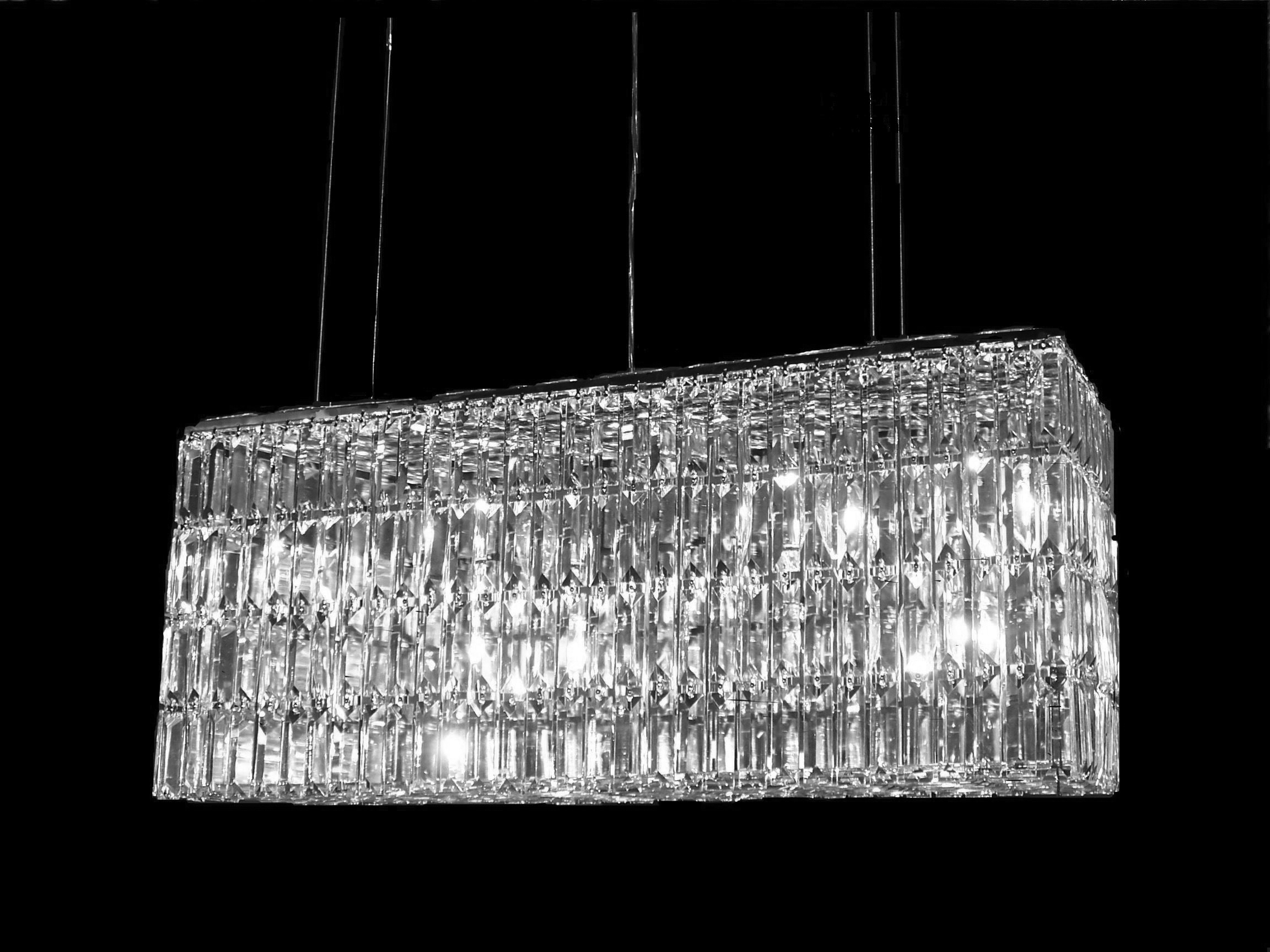 Modern Chic Rectangle Waterfall Chandelier With Regard To Most Current Waterfall Chandeliers (View 17 of 20)