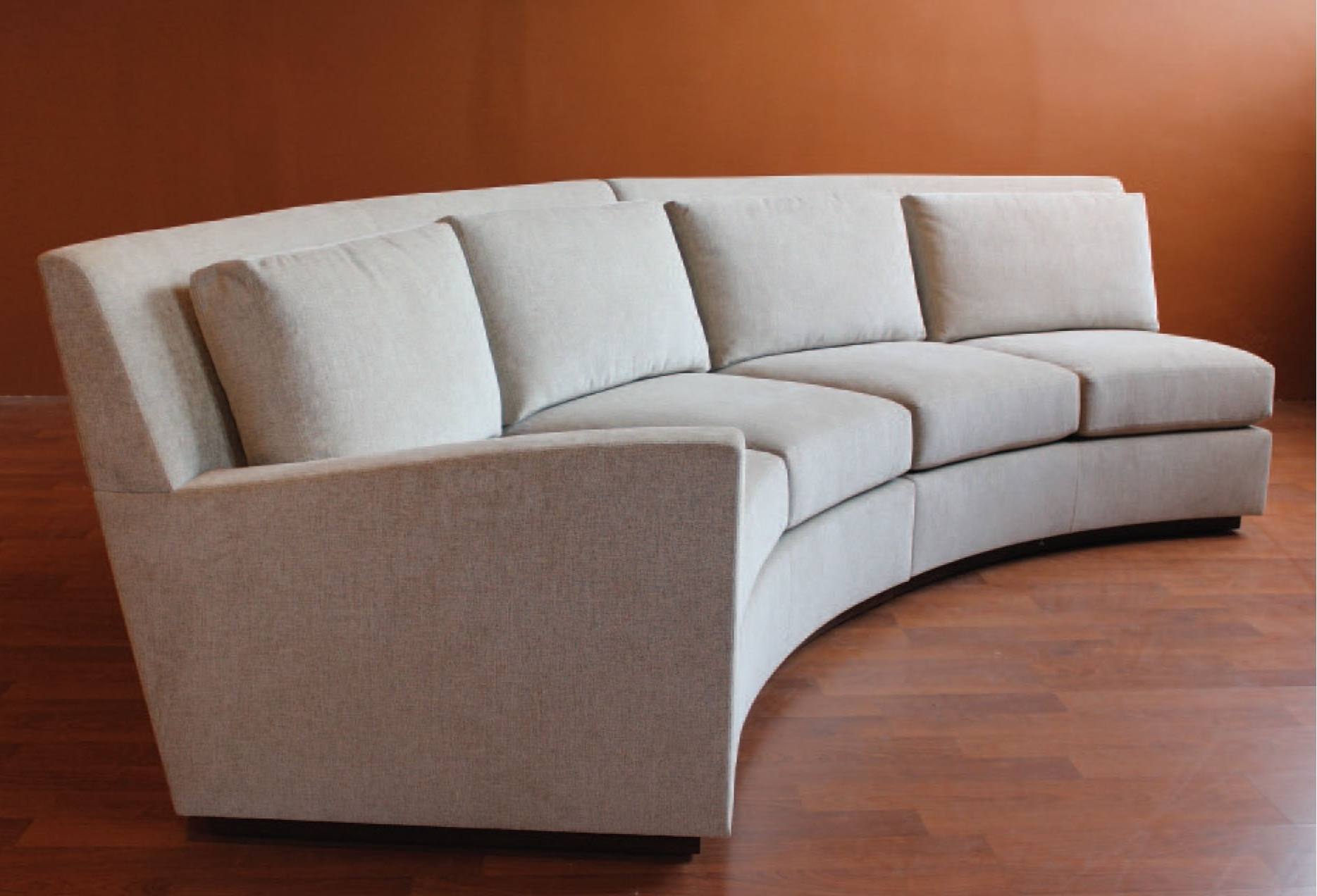 Modern Curved Sofa With Sectional Circular Sofas Round Sectionals Throughout Widely Used Rounded Sofas (View 7 of 20)