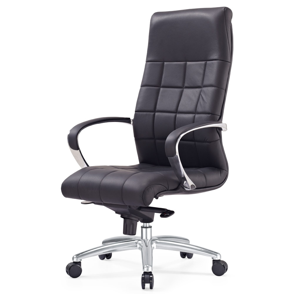 Modern Executive Office Chairs Regarding Famous Modern Ergonomic Grant Leather Executive Chair With Aluminum Base (View 7 of 20)