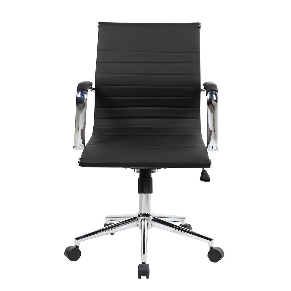 Modern Executive Office Chairs Within Most Popular Black Modern Medium Back Executive Office Chair Rta 4602 Bk – The (View 11 of 20)