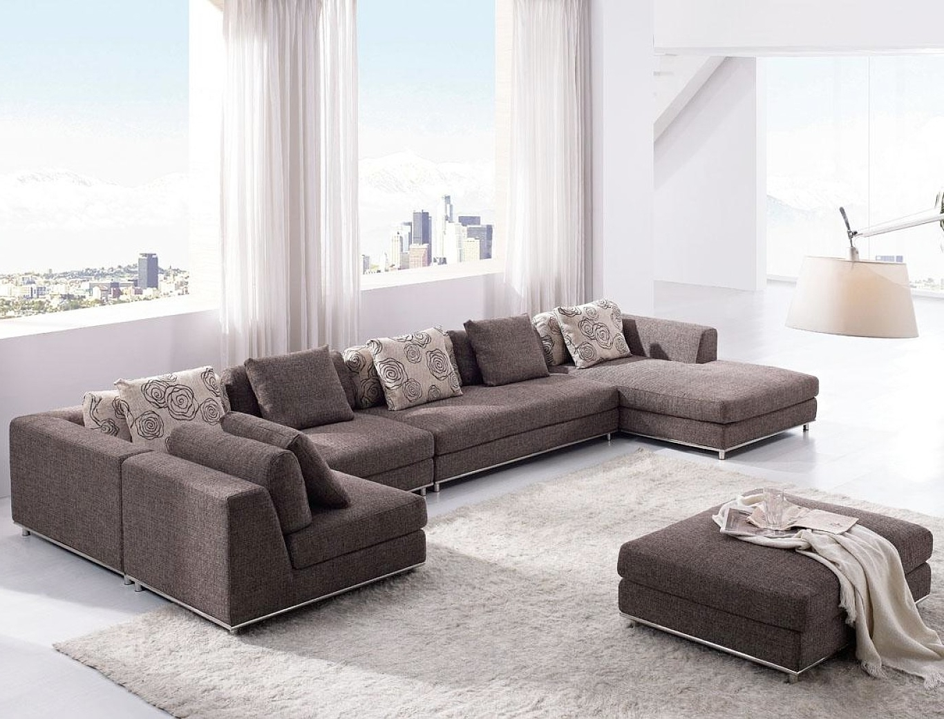 Modern Living Room Sets Houzz Modern Sofa Contemporary Living Room Intended For Latest Houzz Sectional Sofas (View 13 of 20)