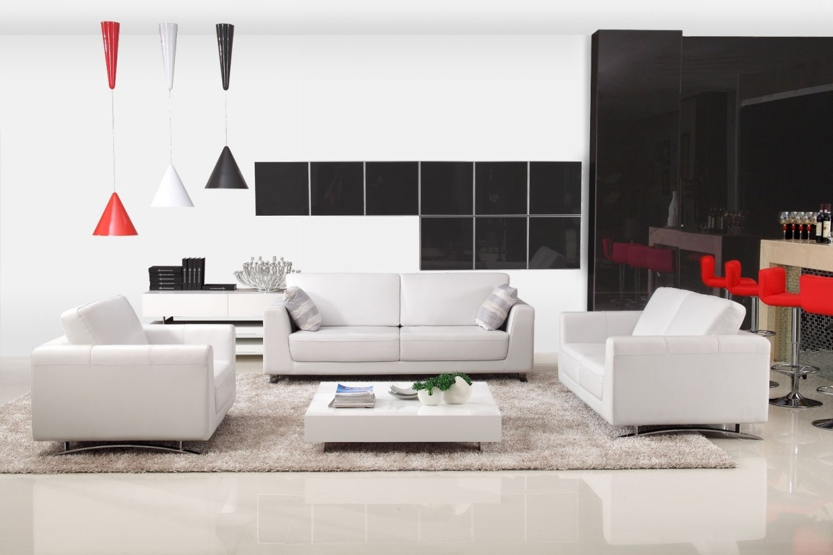 Modern Off White Leather Sofa Set Within Most Popular Off White Leather Sofas (View 10 of 20)