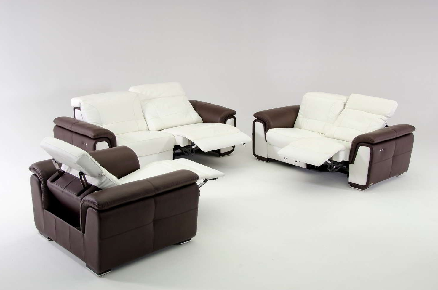 Modern Reclining Leather Sofas Throughout Widely Used Contemporary Reclining Couch Leather — Fabrizio Design : Very (View 9 of 20)