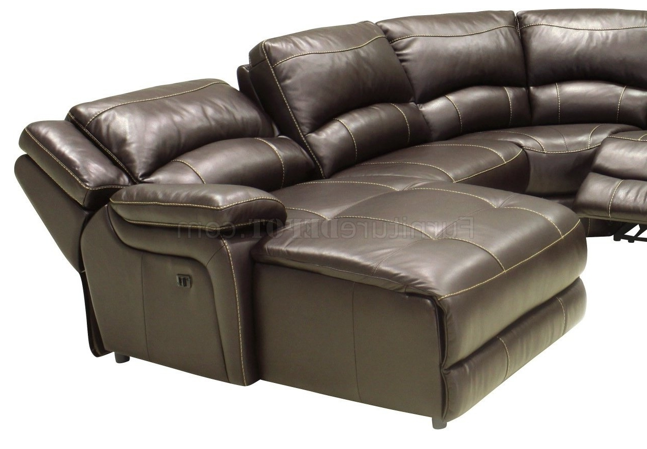 Modern Reclining Leather Sofas With Favorite Full Leather 6pc Modern Reclining Sectional Sofa (View 18 of 20)