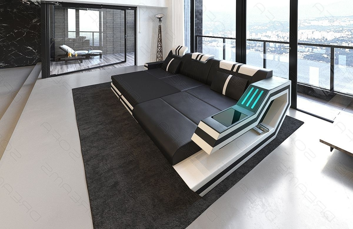 Modern Sectional Fabric Sofa Hollywood L Shape With Led And Usb With Regard To Trendy Luxury Sectional Sofas (View 4 of 20)
