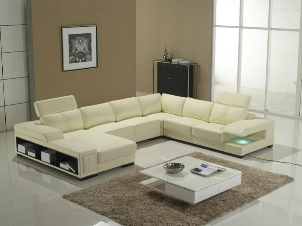 Modern U Shaped Sectionals For Well Known Chic U Shaped Sectional Sofas You Must Have : Awesome Offwhite (View 12 of 20)