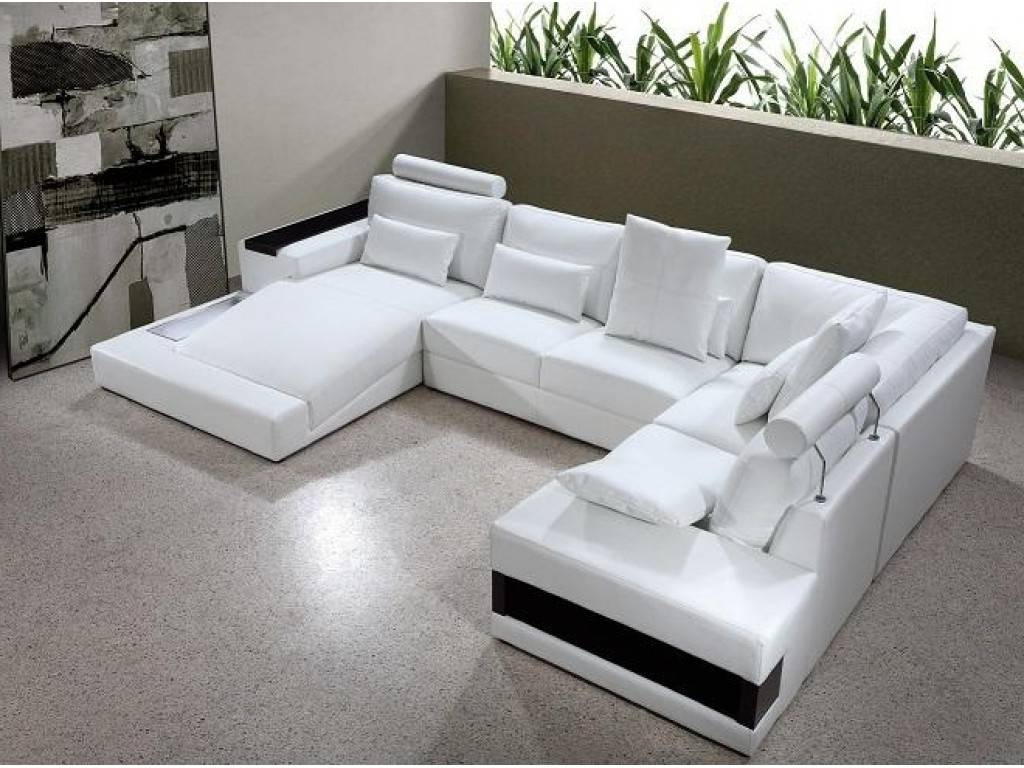 Modern U Shaped Sectionals With Regard To 2019 Sofa : Fabric Sectional Leather Sectional U Shaped Sectional With (View 16 of 20)