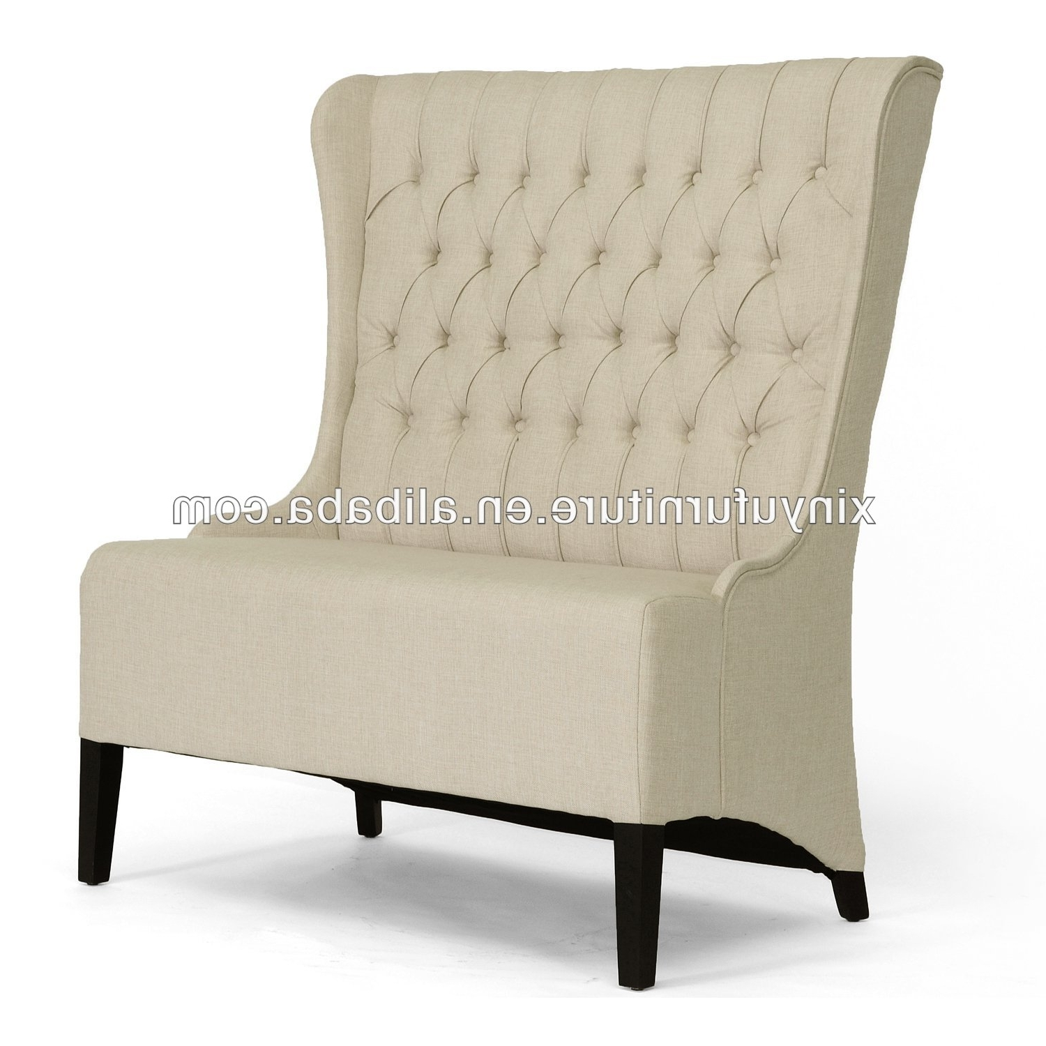 Modern White High Back Loveseat Furniture, Modern White High Back With Best And Newest High Back Sofas And Chairs (View 16 of 20)