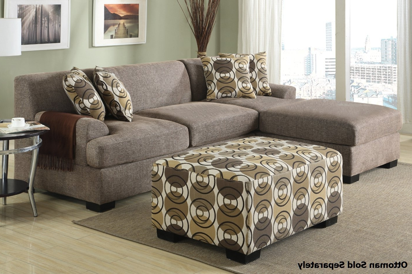 Montreal Sectional Sofas With Regard To Current Montreal Ii Beige Fabric Sectional Sofa – Steal A Sofa Furniture (View 5 of 20)