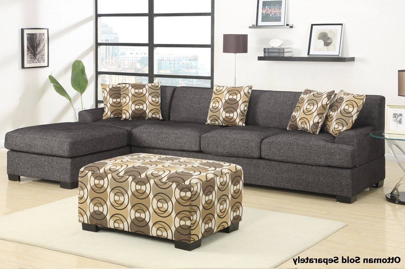 Montreal Sectional Sofas Within Well Known Montreal Iii Grey Fabric Sectional Sofa – Steal A Sofa Furniture (Gallery 14 of 20)