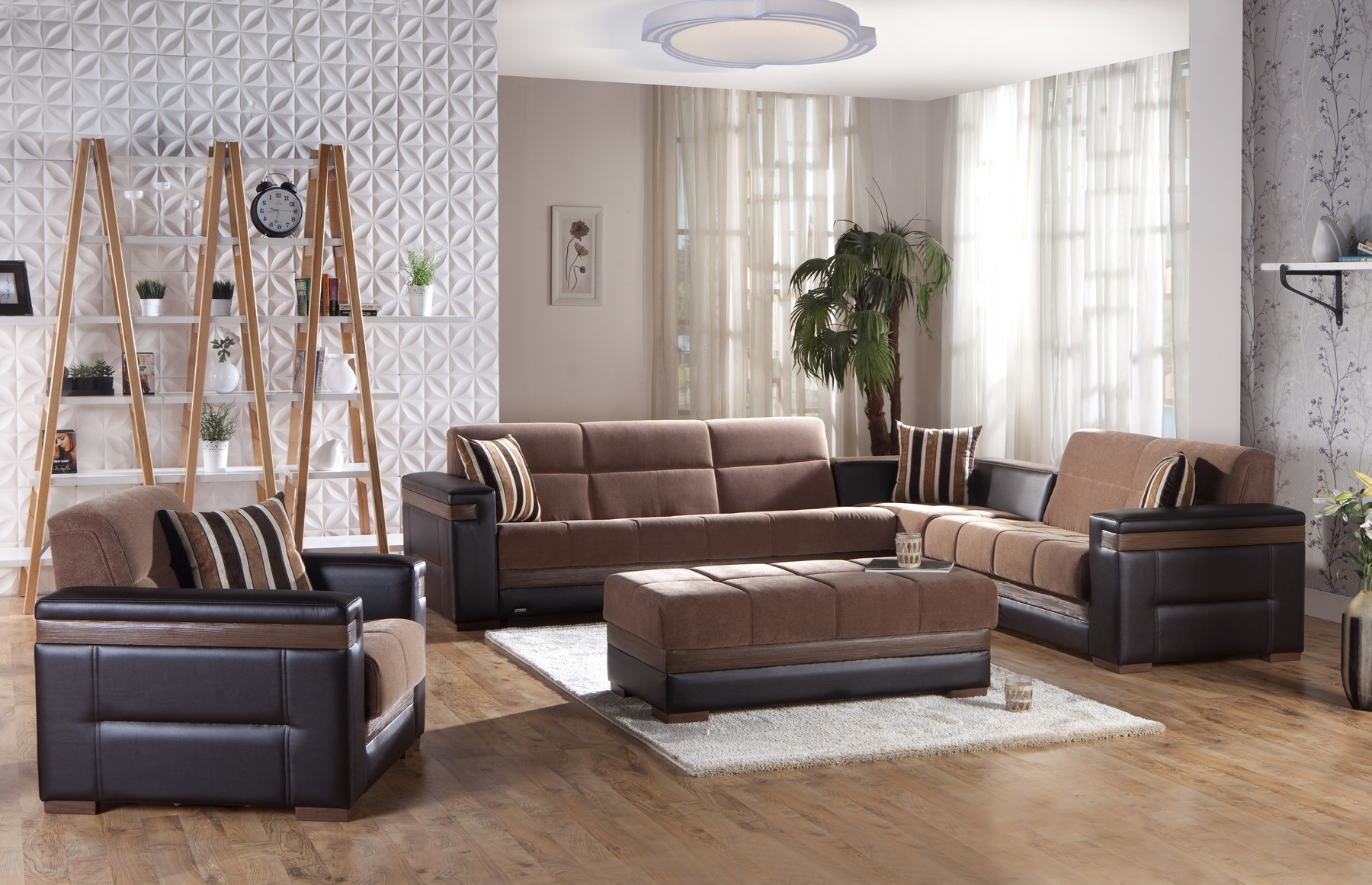 Moon Troy Brown Sectional Sofa Moon Sunset Furniture Sectional Within 2018 Convertible Sectional Sofas (View 19 of 20)